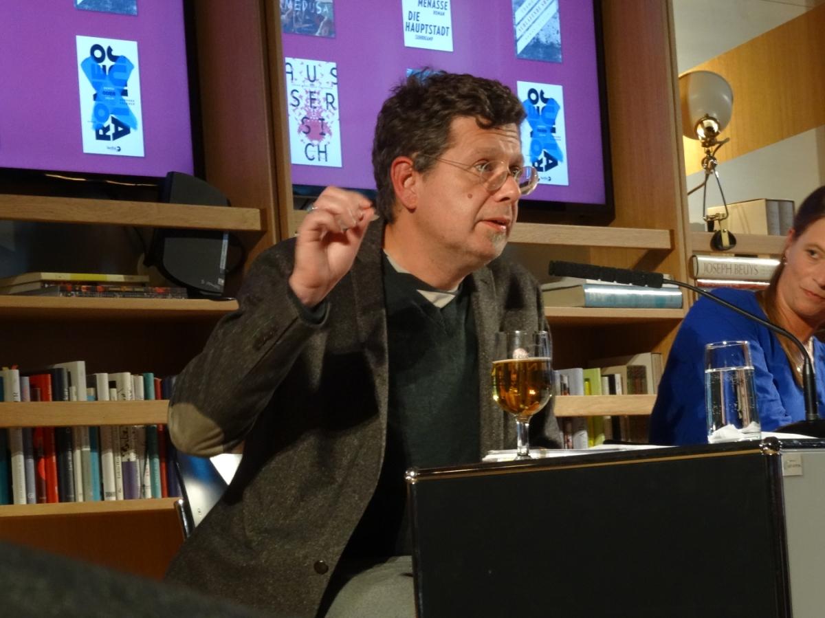 Shortlist-Lesung im Literaturhaus Frankfurt: Franzobel und Poschmann